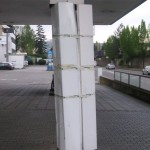 Schaden Dachstützenverkleidung